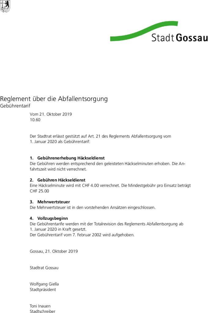 thumbnail of Gebührentarif Abfallentsorgung
