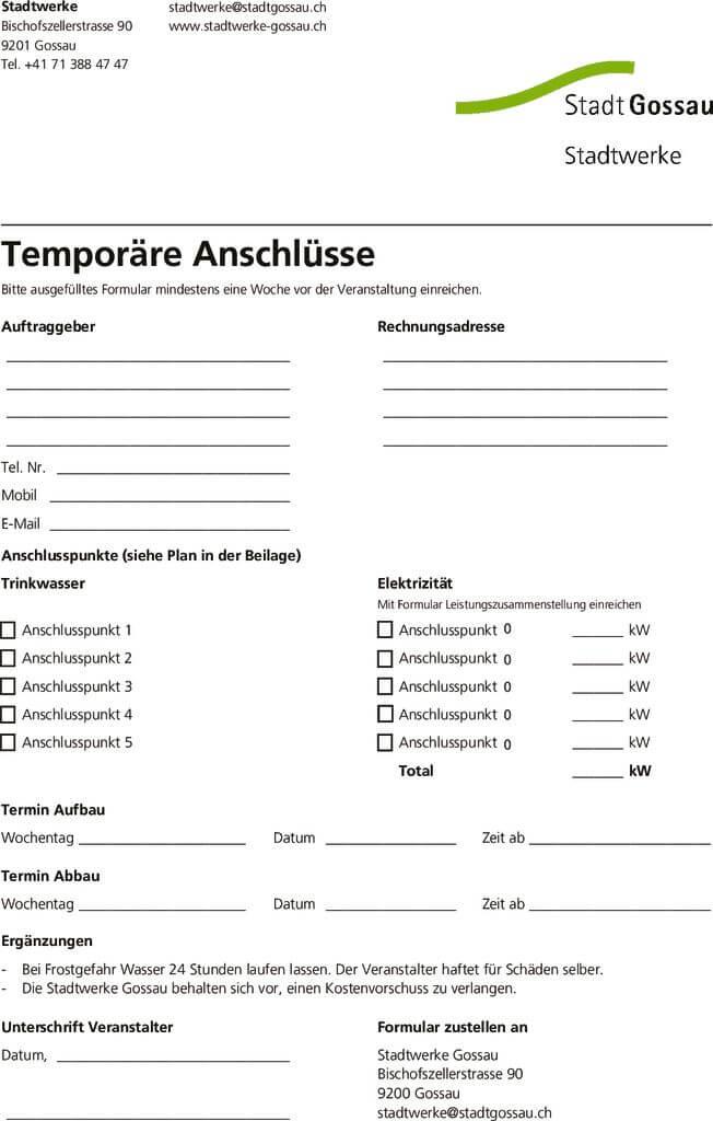 thumbnail of Temporäre Anschlüsse